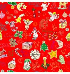 christmas pattern wallpaper vector image