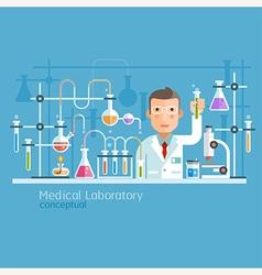 Medical Laboratory Conceptual vector image