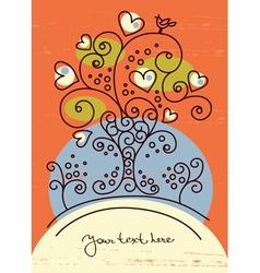 funky love tree vector image