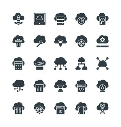 Cloud Computing Cool Icons 2 vector image