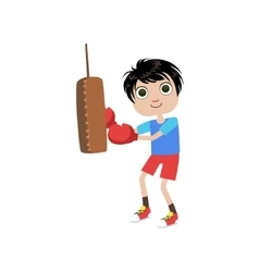 Young boy boxer vector