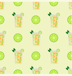 Alcohol drinks beverages cocktail seamless pattern vector