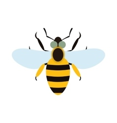 Bee flat icon vector image vector image