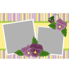 Blank template for photo frame vector