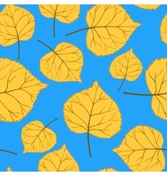 Blue Pattern with leaves-01 vector image