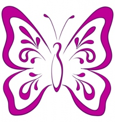 Butterfly pictogram vector