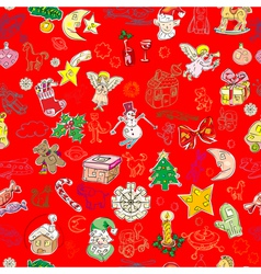 christmas pattern wallpaper vector image