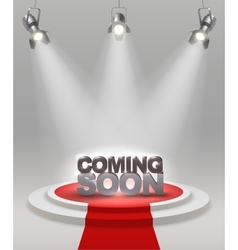 Coming Soon Composition vector image