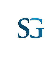 elegant letter sg logo concept vector image