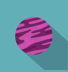 Far away planet icon flat style vector