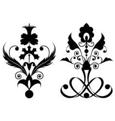 flowers black vector image vector image