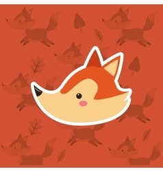 fox with pattern background image vector image vector image