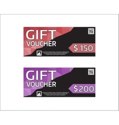 Gift voucher modern design template vector image