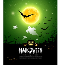 Happy Halloween ghost design vector image vector image