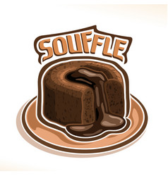 Logo for chocolate souffle vector