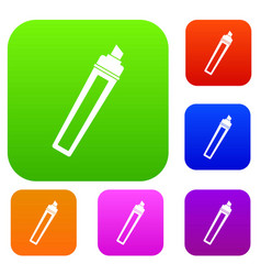 marker set color collection vector image