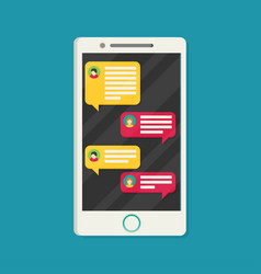 mobile phone messages vector image