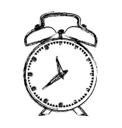 Monochrome blurred silhouette of alarm clock vector