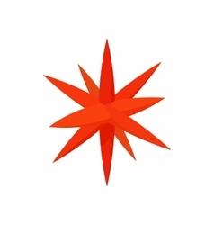 Moravian star star icon cartoon style vector
