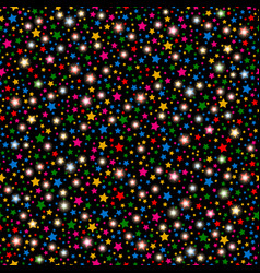 Multicolored abstract shining falling stars vector