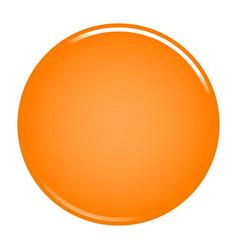orange circle button blank web internet icon vector image vector image