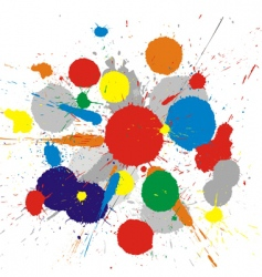 paint splashes background vector image vector image