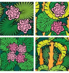 Palm flower seaml 380 vector