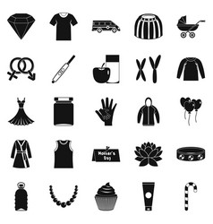 relations icons set simple style vector image vector image