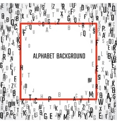 Scatterred alphabet background vector