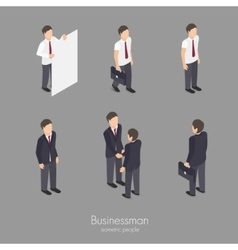 Set of businessman vector