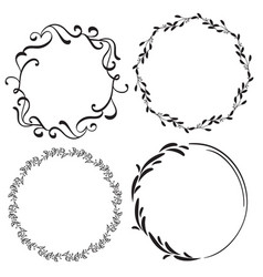 Set of decorative frame and borders art vector