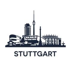 Stuttgart Skyline Emblem vector image vector image