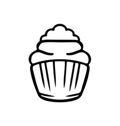 thin line cupcake icon vector image