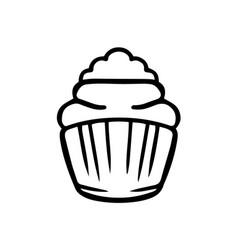 thin line cupcake icon vector image vector image