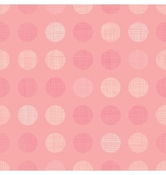 Vintage Pastel Salmon Pink Baby Girl Dots vector image