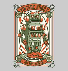 Vintage robot vector