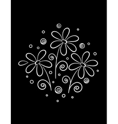 White flowers pattern vector
