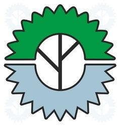woodworking industry logo vector image vector image