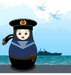 Matryoshka sailor vector
