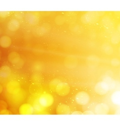 Orange bokeh lights abstract background vector