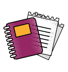 rings notebook tool with loose paper vector image