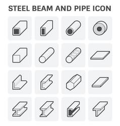 steel pipe beam vector image