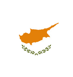 National flag republic of cyprus vector