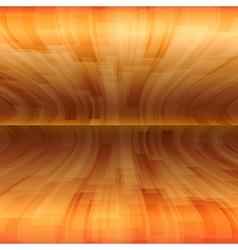 background orange stripes wave horizontal vector image