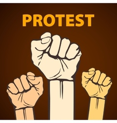 Clenched fist held in protest  freedom vector