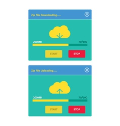 Cloud download and upload 25 vector image