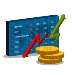 Stock market with statistics vector