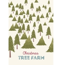 Christmas tree farm vector