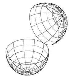 open globe vector image