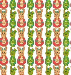 Seamless pattern with easter bunny-12 vector